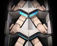 Tylni widok luksusowy klasa business apartamentów układ na czarnym tle ilustracji