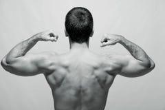 Tylni widok młody męski bodybuilder Obrazy Royalty Free