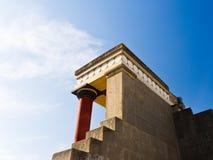 Tylni widok Minoan pałac przy Knossos Obraz Royalty Free