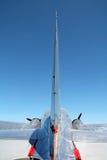 Tylni widok samolot w locie fotografia stock
