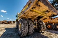 Tylni widok wielka dumper ciężarówka obraz royalty free
