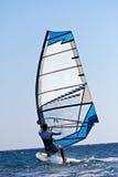 tylni widok windsurfer potomstwa Fotografia Stock