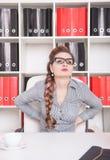 tylny biznes jej bólowa kobieta Zdjęcie Stock