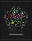 Tylny deskowy przepis z warzywami Zdjęcie Stock