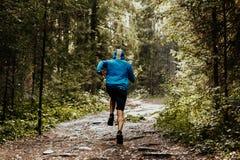 Tylny męski biegacz Zdjęcie Royalty Free