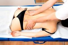 Tylny masaż w zdroju zdjęcia stock