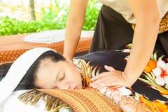 Tylny masażu zdrój zdjęcia royalty free