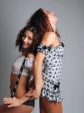tylny naciskowy seksowny bliźniacy Obraz Royalty Free