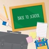 tylny szkolny szablon Zdjęcie Stock