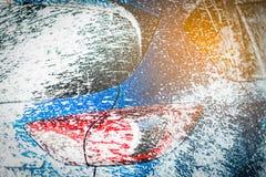 Tylny widok błękitny ścisły SUV samochód z sportem i nowożytnym projektem Zdjęcia Royalty Free