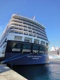 Tylny widok statku wycieczkowego Holandia Ameryka linia Obrazy Stock