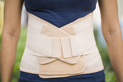 Tylny zwolennik dla tylnego mięśnia bólowej ulgi Fotografia Royalty Free