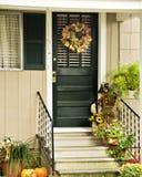 tylnymi drzwiami dom wiejski Obrazy Stock
