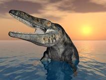 Tylosaurus. Computer generated 3D illustration with Tylosaurus Royalty Free Stock Images