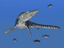 Tylosaurus. Computer generated 3D illustration with Tylosaurus Stock Photo