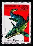 Tylosaurus förhistorisk djurserie, circa 1987 Arkivbild
