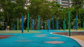 Tymelapse射击了吉隆坡花园大概有做体育锻炼的许多的人 影视素材