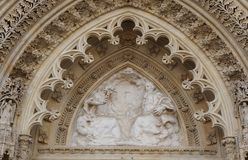 Tympan of Zagreb Cathedral Stock Photos