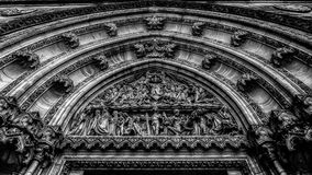 Tympanon, Basilica of St. Peter and St. Paul, Vysehrad, Prague. Detail of the entrance door of St. Peter and Paul church on Vysehrad in Prague Royalty Free Stock Photos