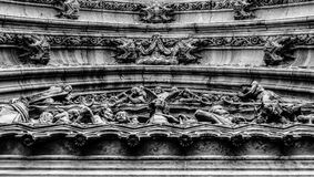 Tympanon, Basilica of St. Peter and St. Paul, Vysehrad, Prague. Detail of the entrance door of St. Peter and Paul church on Vysehrad in Prague Royalty Free Stock Photo
