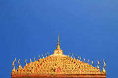 Tympanum. Close up of tympanum with thai architecture at the temple stock photo