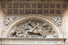 Tympanum basilica of St. George. In Prague, Czech republic Stock Photography