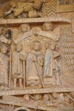 Tympanum carvings of the Last Judgment Royalty Free Stock Photography