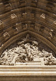 Tympanum in the Cathedral of Seville Royalty Free Stock Images