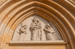 Tympanum of Church of Our Lady Na Nameti in Kutna Hora Stock Images