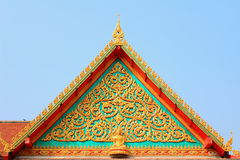 Tympanum. Close up of tympanum with thai architecture royalty free stock photography