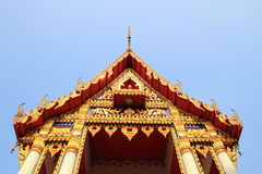 Tympanum. Close up of tympanum with thai architecture at the temple royalty free stock image