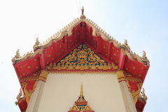 Tympanum. Close up of tympanum with thai architecture at the temple royalty free stock images