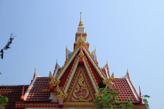 Tympanum. Close up of tympanum with thai architecture at the temple royalty free stock photos