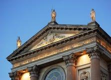 Tympanum della chiesa Fotografia Stock Libera da Diritti