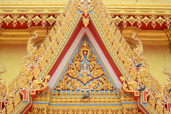 Tympanum. Of Golden Temple at Wat Kiriwong, nakhonsawan Thailand Stock Photos