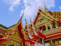 Tympanum of the pavilion and of the temple in Thailand. Royalty Free Stock Image