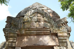 Tympanum of  Phanom Rung Historical Park. Is a Khmer temple in Prakhon Chai district, Buri Ram Province, Thailand Royalty Free Stock Photography