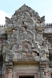 Tympanum of  Phanom Rung Historical Park. Is a Khmer temple in Prakhon Chai district, Buri Ram Province, Thailand Royalty Free Stock Images