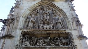 Tympanum of the portal of the chapel. Amboise chapel. Loire valley, France Royalty Free Stock Photography