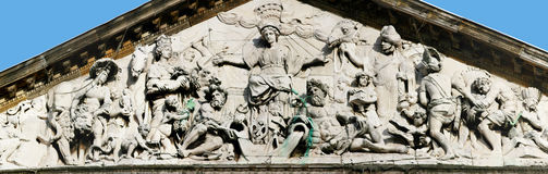 Tympanum of Royal Palace in Amsterdam XXL Stock Photo