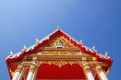 Tympanum. 's thai architecture with sky background royalty free stock image