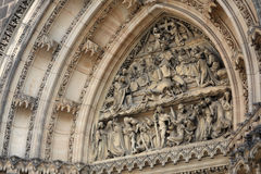 Tympanum of St Peter and St Paul basilica Stock Photography