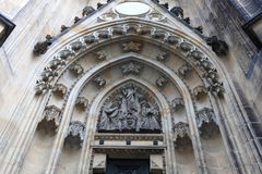 Tympanum of St. Vitus Cathedral Royalty Free Stock Photos