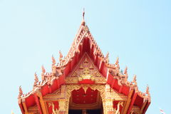 Tympanum. With thai architecture and paint stock photos