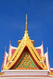 Tympanum. With thai architecture and paint stock image