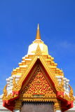 Tympanum. With thai architecture and paint royalty free stock photos