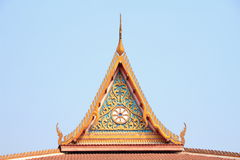 Tympanum. With thai architecture in Thailand royalty free stock image