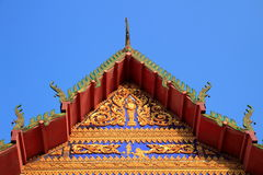 Tympanum. With thai architecture in Thailand stock image