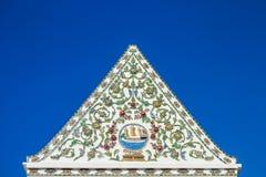Tympanum at Wat Nang Chee Chotikaram Royalty Free Stock Photos