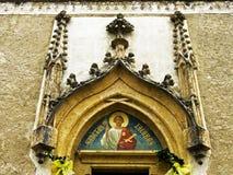 Tympany av kyrkan av vår dam Royaltyfria Foton